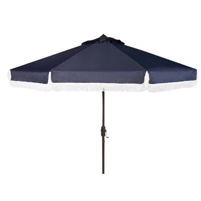 Greenberry 8 Solid Fringe Crank Drape Umbrella