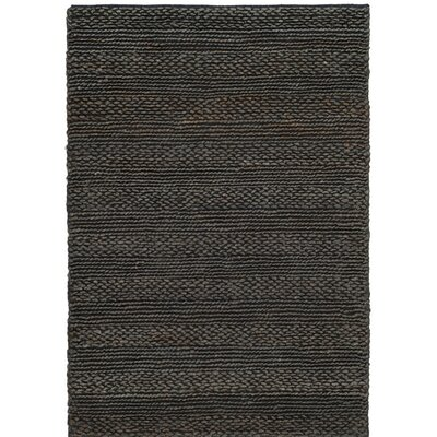Jean Natural Fiber Hand-Woven Charcoal Area Rug Rug Size: 9 x 12