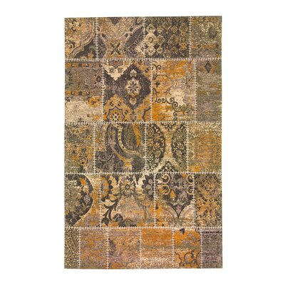 Zooey Hand-Woven Brown Area Rug Rug Size: 5 x 8