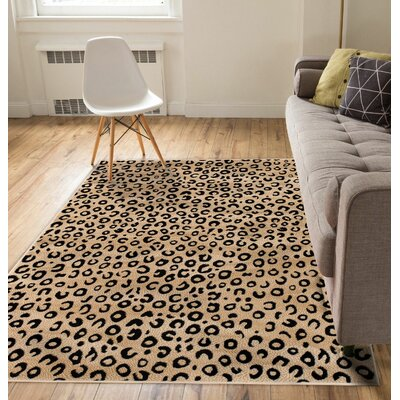 Amskroud Beige Area Rug Rug Size: Rectangle 93 x 126