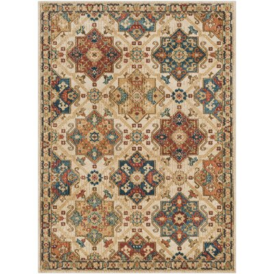 Naranjo Traditional Tan Area Rug Rug Size: Rectangle 5 3 x 7 3