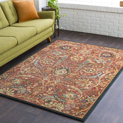 Naranjo Traditional Burnt Orange Area Rug Rug Size: Rectangle 9 3 x 12 6