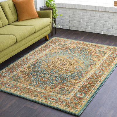 Naranjo Traditional Tan Area Rug Rug Size: Rectangle 9 3 x 12 6