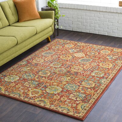 Naranjo Market Burnt Orange Area Rug Rug Size: Rectangle 3 11 x 5 7