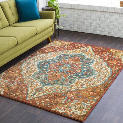 Masala Market Red Area Rug Rug Size: 5 3 x 7 3