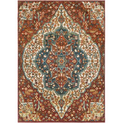 Naranjo Red Area Rug Rug Size: Runner 27 x 73