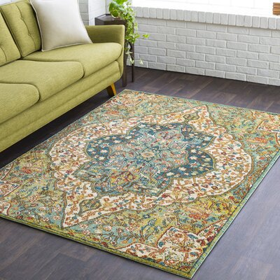 Naranjo Green Area Rug Rug Size: Rectangle 9 3 x 12 6