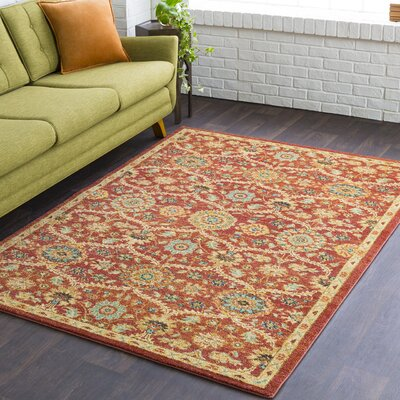 Naranjo Market Burnt Orange Area Rug Rug Size: Rectangle 9 3 x 12 6