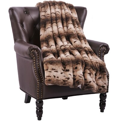 Richardson Throw Size: 60 L x 50 W, Color: Brown