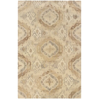 Mireille Hand-Woven Modern Beige Area Rug Rug Size: Rectangle 36 x 56