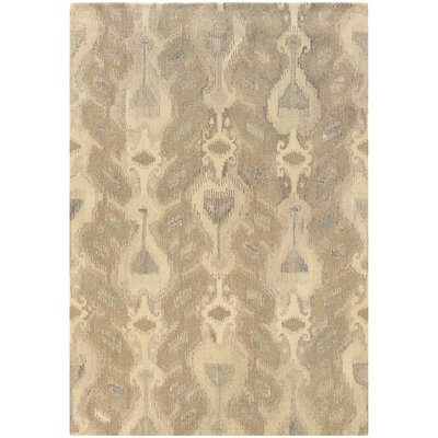 Mireille Hand-Woven Beige Area Rug Rug Size: Rectangle 36 x 56