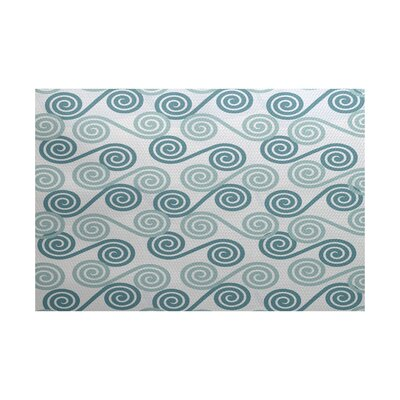 Rafia Gray/Green Indoor/Outdoor Area Rug Rug Size: 3 x 5