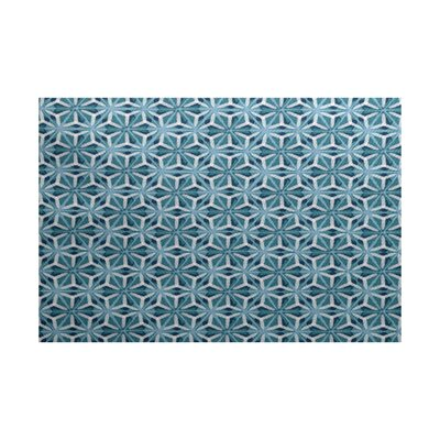Viet Flat Woven Blue Geometric Indoor/Outdoor Area Rug Rug Size: Rectangle 3' x 5'