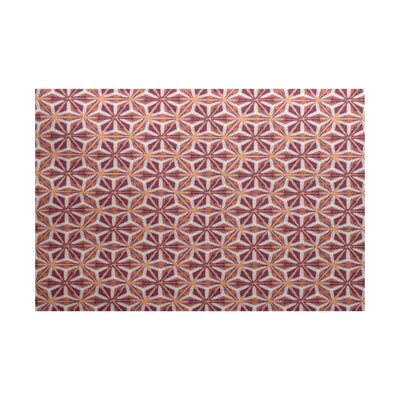 Rafia Purple/Orange Indoor/Outdoor Area Rug Rug Size: 4 x 6
