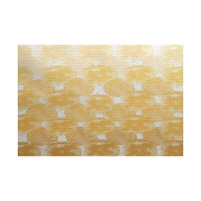 Rafia Yellow Indoor/Outdoor Area Rug Rug Size: 5 x 7