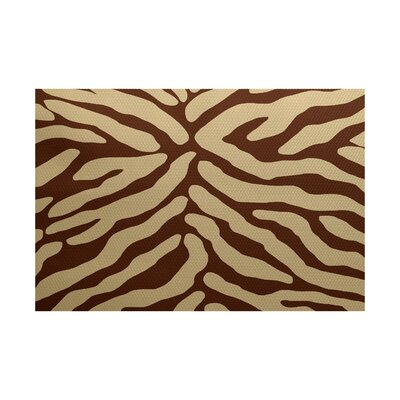 Echo Brown Indoor/Outdoor Area Rug Rug Size: 3 x 5