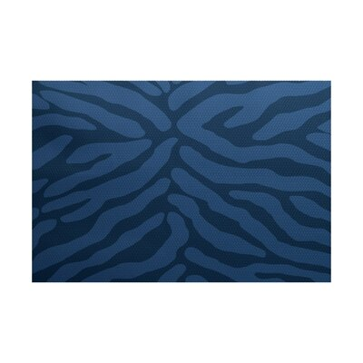 Kam Navy Blue Indoor/Outdoor Area Rug Rug Size: 4 x 6