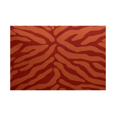 Echo Orange / Rust Indoor/Outdoor Area Rug Rug Size: 4 x 6