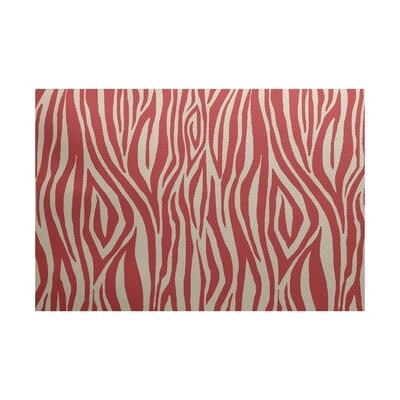 Echo Coral Indoor/Outdoor Area Rug Rug Size: 2 x 3