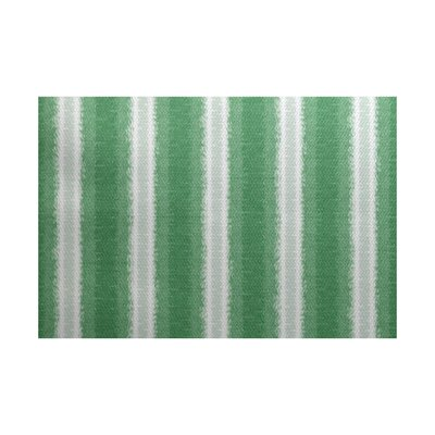 Navarro Green/Gray Indoor/Outdoor Area Rug Rug Size: 5 x 7