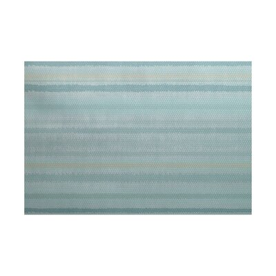 Rafia Green/Gray Indoor/Outdoor Area Rug Rug Size: 3 x 5