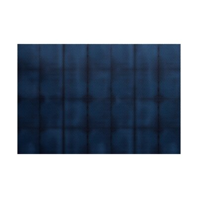 Viet Blue Stripe Indoor/Outdoor Area Rug Rug Size: 5 x 7