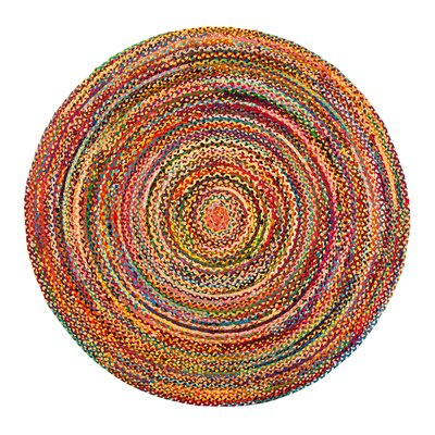 Coleman Handmade Purple/Pink/Yellow Area Rug Rug Size: Round 4