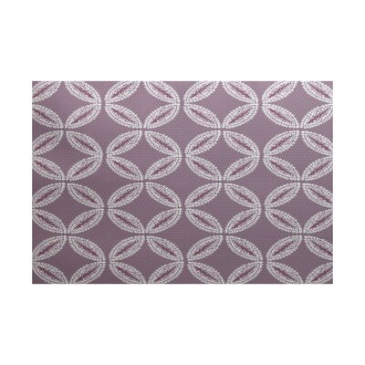 Viet Purple Geometric Indoor/Outdoor Area Rug Rug Size: 5 x 7