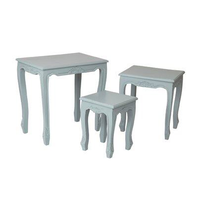 Sapir 3 Piece Nesting Tables Color: Light Grey