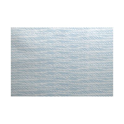 Rafia Light Blue/Gray Indoor/Outdoor Area Rug Rug Size: 5 x 7