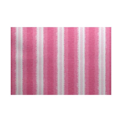 Rafia Pink/White Indoor/Outdoor Area Rug Rug Size: 3 x 5
