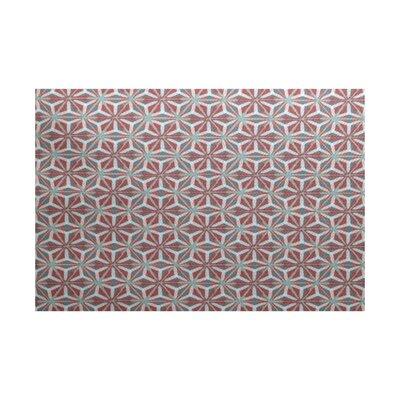 Rafia Red/Green Indoor/Outdoor Area Rug Rug Size: 3 x 5