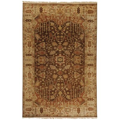 Adrien Brown Wool Area Rug Rug Size: 39 x 59