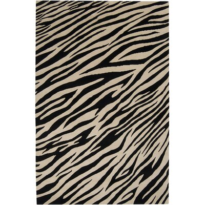 Strickland Ivory/Black Area Rug Rug Size: Rectangle 8 x 11