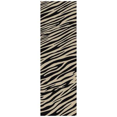 Strickland Ivory/Black Area Rug Rug Size: Runner 26 x 10