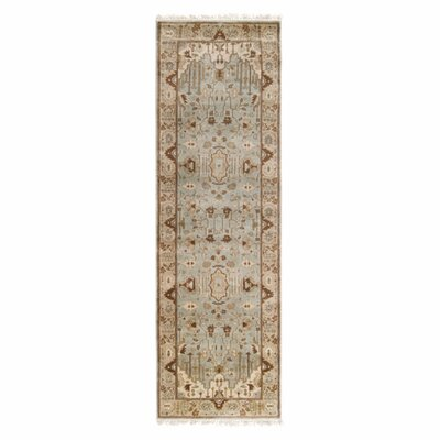 Adrien Light Blue/Beige Area Rug Rug Size: Runner 26 x 8