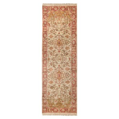 Adrien Burnished Gold Area Rug Rug Size: Runner 26 x 8