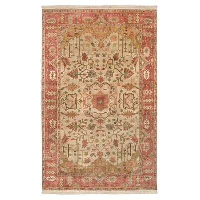 Adrien Burnished Gold Area Rug Rug Size: 56 x 86