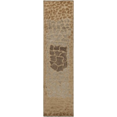 Ferber Taupe Area Rug Rug Size: Runner 26 x 10