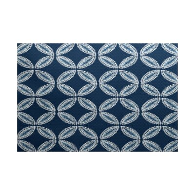Rafia Blue Indoor/Outdoor Area Rug Rug Size: 5 x 7