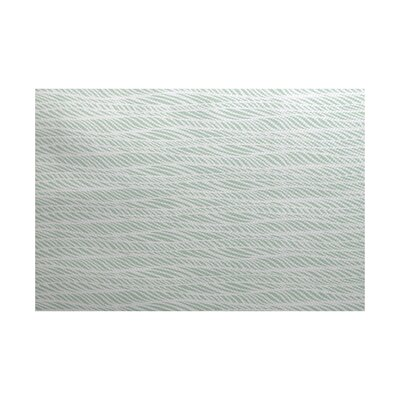 Rafia Green/Gray Indoor/Outdoor Area Rug Rug Size: 5 x 7