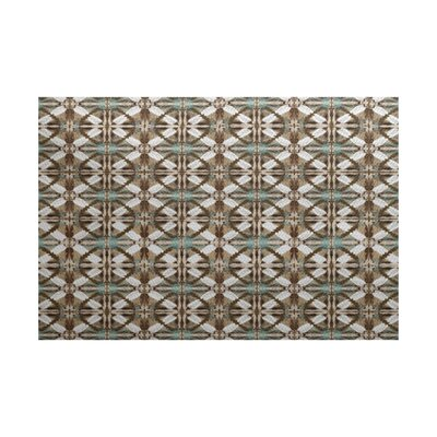 Viet Brown Geometric Indoor/Outdoor Area Rug Rug Size: 2 x 3