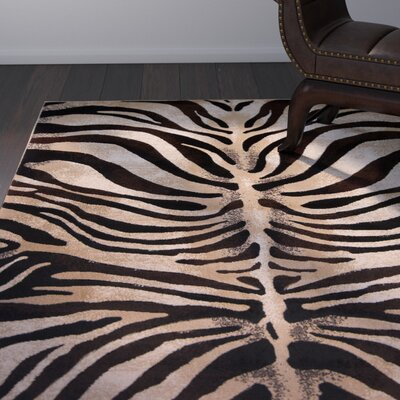 Edolie Black/Ivory Area Rug Rug Size: Rectangle 52 x 72