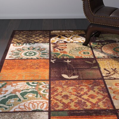 Walters Brown/Beige/Green Area Rug Rug Size: Rectangle 8 x 10