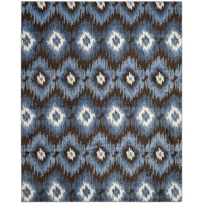 Greenhill Dark Brown/Blue Rug Rug Size: 5 x 8