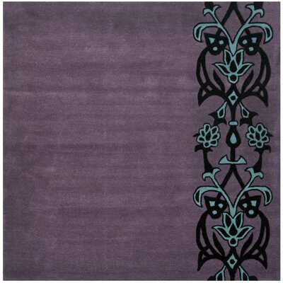 Argana Purple/Blue Rug Rug Size: Square 6