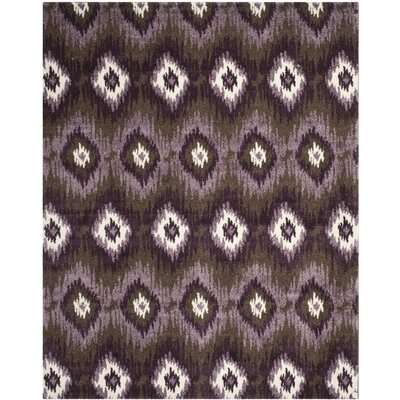 Greenhill Dark Brown/Eggplant Rug Rug Size: 3 x 5
