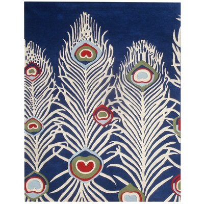 Dorthy Blue/Ivory Rug Rug Size: Rectangle 76 x 96