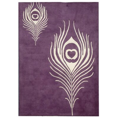 Dorthy Purple & Ivory Area Rug Rug Size: Rectangle 36 x 56