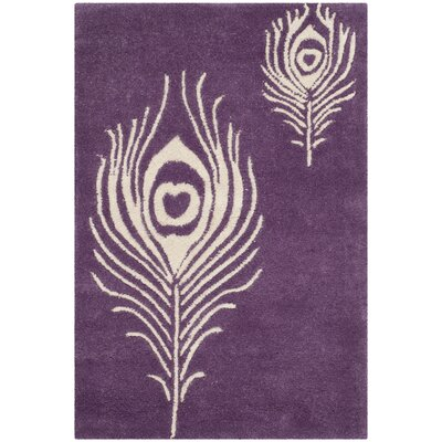 Dorthy Purple & Ivory Area Rug Rug Size: Rectangle 2 x 3